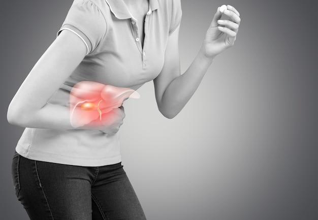 Болезнь печени боль анатомия фон биология тело