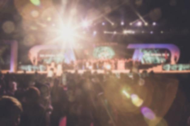 Дисфокус темы церемонии награждения творческий. фон для успеха бизнес-концепция