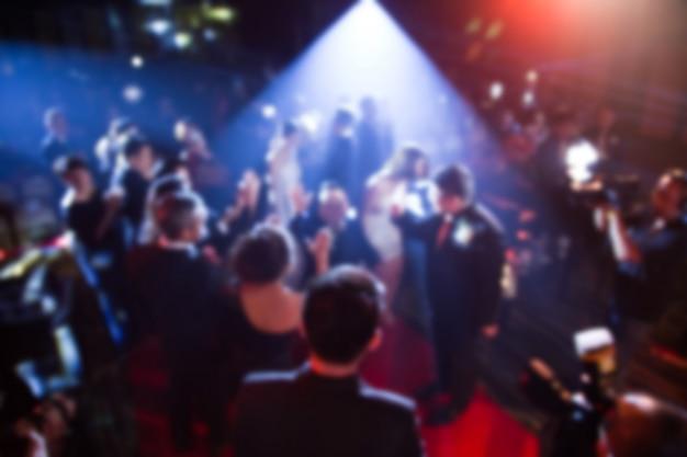 Дисфокус на церемонии награждения тема креативная. фон для успеха бизнес-концепции