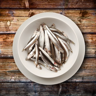 Dish of anchovies