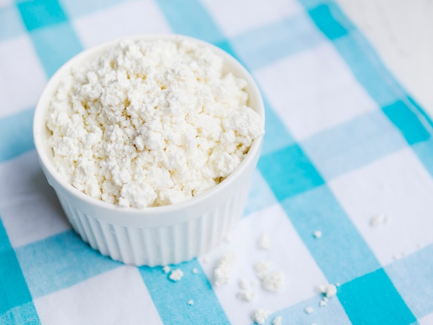 Dish full of cottage cheese