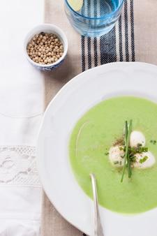 ピューレ野菜の皿