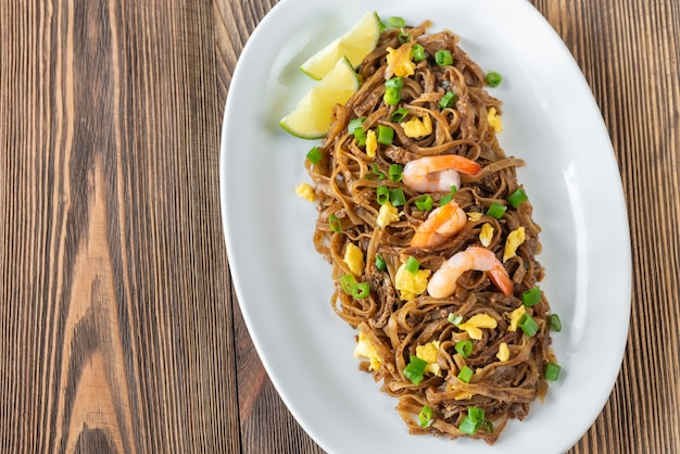 Dish of pad thai - thai fried rice noodles