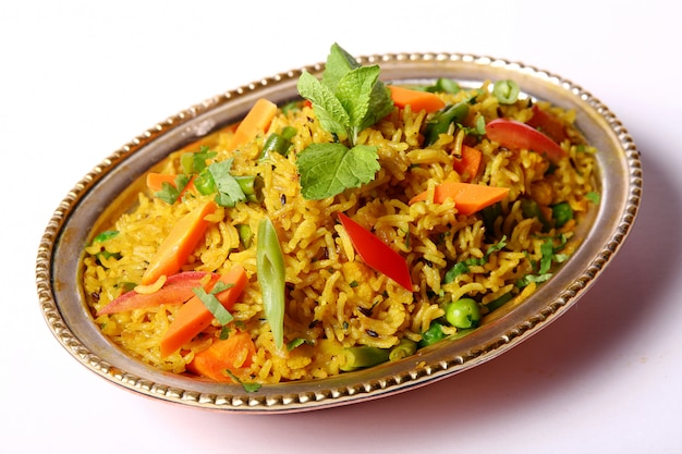 Dish with rice
