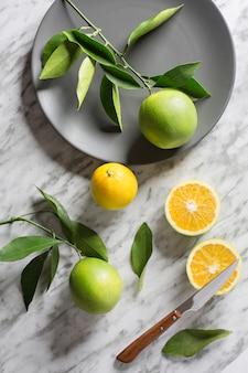 Dish with wild oranges