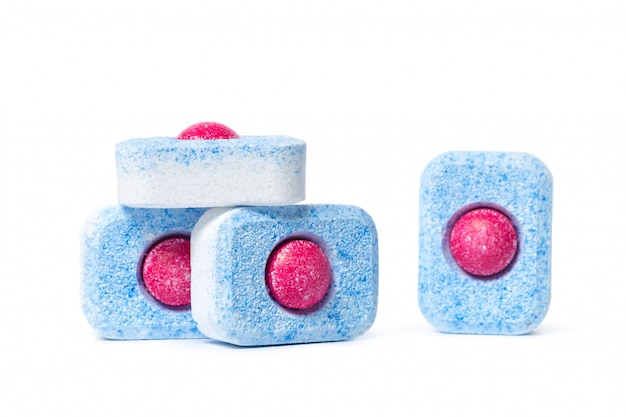 Dishwasher tablets isolate