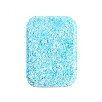 Dishwasher tablets on white