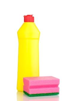 주방용 액체와 스폰지 화이트