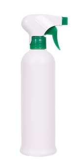 Disinfectant spray in the bottle. isolated on white space.