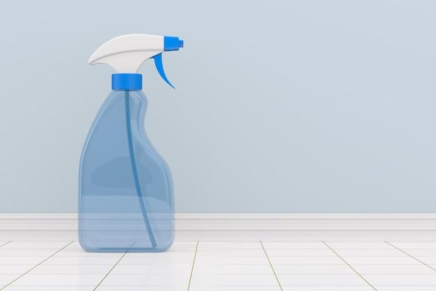 Disinfectant spray into bathroom. 3d