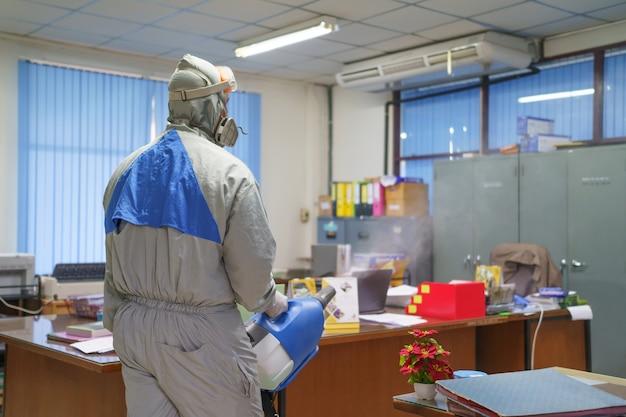 표면의 물체에 부착되는 살균 스프레이 어 및 세균. 감염 방지 covid 19