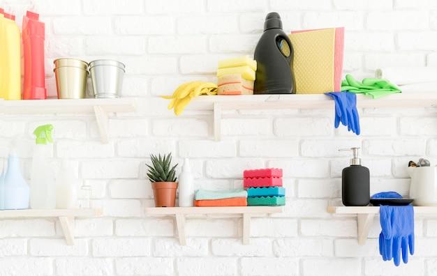 Disinfection equipment on shelfs