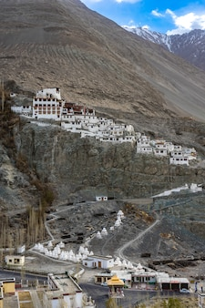 Diskit temple or diskit gompa-beautiful buddhist tibetan monastery