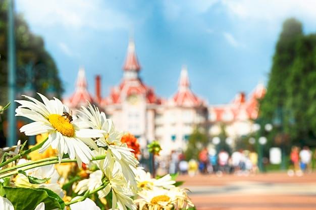 디즈니랜드, 파리 - 2016년 9월 9일: 프랑스 파리의 디즈니랜드 파크.