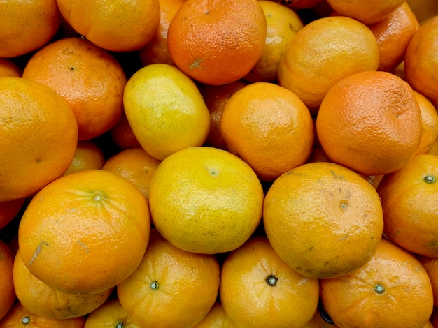 Display of chinese orange in market