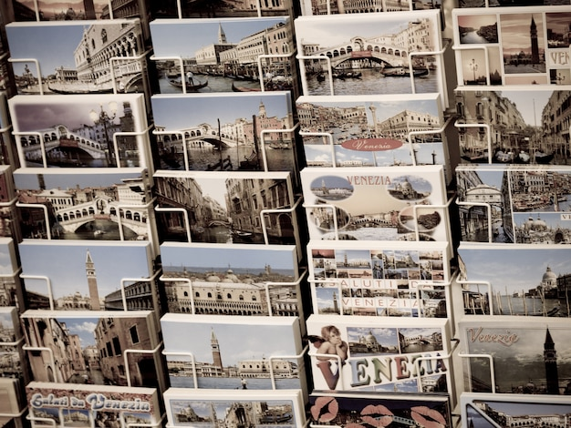 Display of post cards in venice