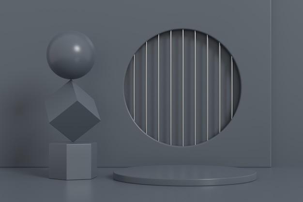 디스플레이 스탠드 디자인. 3d 제품 디스플레이. 3d 렌더링.