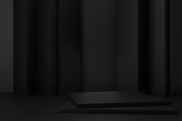 디스플레이 스탠드 디자인. 3d 렌더링.