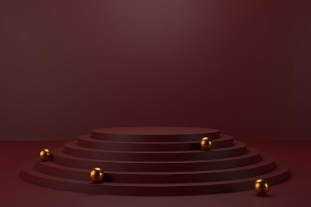 ディスプレイスタンドのデザイン。 3dレンダリング。