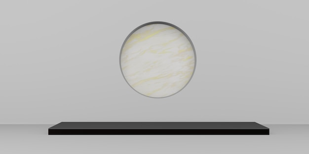 디스플레이 스탠드 대리석 배경 최소한의 제품 배경 3d 그림