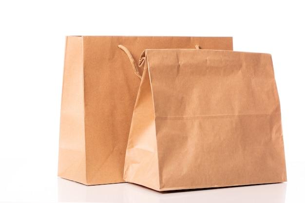 使い捨ての生分解性クラフト紙袋