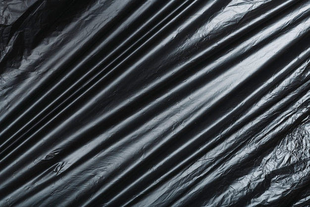 Одноразовая черная структура мешка для мусора