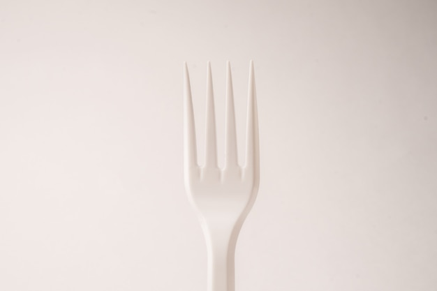 Disposable forks on a white background isolated