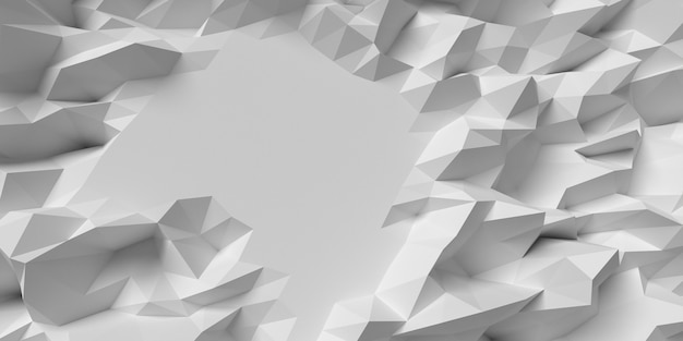 Distorted geometric shapes background