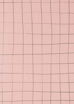 Distorted grid on dull pink wallpaper