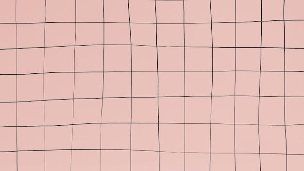 鈍いピンクの壁紙にグリッドを歪める