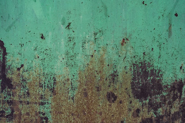 Distressed overlay texture of rusted peeled metal. grunge background.
