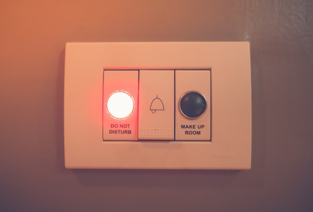 Do not disturb electronic sign light . ( filtered image processe