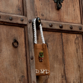 Do not disturb sign hanging on a door, sayulita, nayarit, mexico