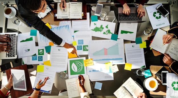 Diverse business people meeting partnership