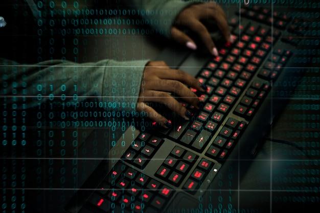 다양한 컴퓨터 해킹 촬영