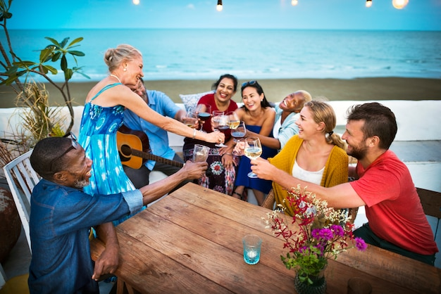 Diverse group of friends summer shoot