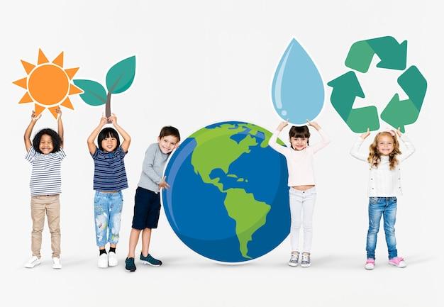 環境意識を広める多様な子供たち