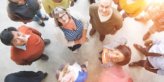 Diverse People Friendship Togetherness Happiness Aerial View