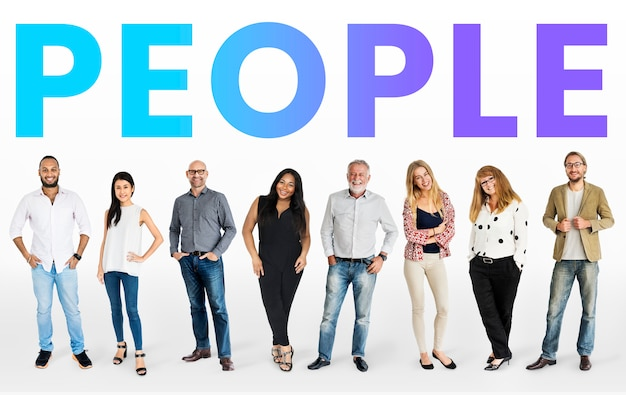 Diverse people mockup collection