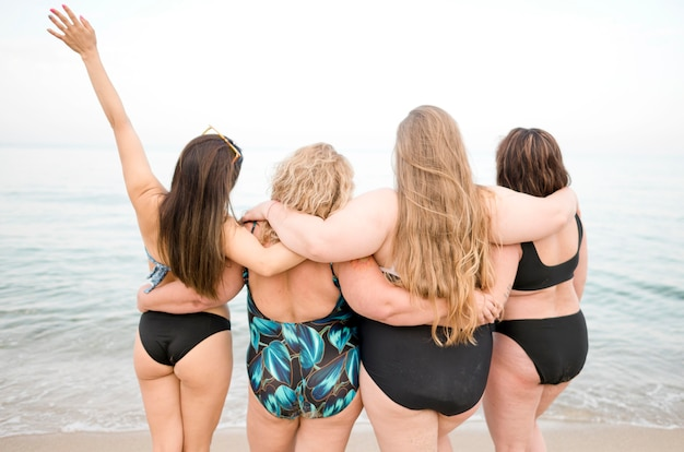 Diversity of women from behind shot