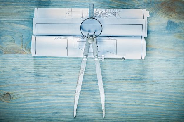 木の板の建物のコンセプトにディバイダー構造図