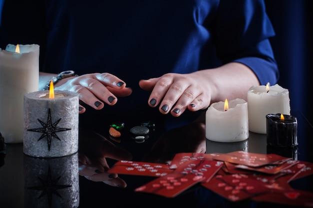 Divination with cards and candles