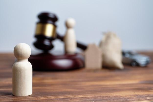 離婚の概念と元妻への財産の譲渡。