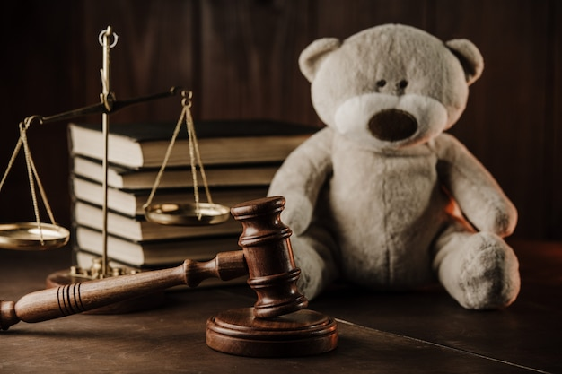 Divorce at family and alimony concept