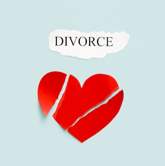 Divorce with paper heart