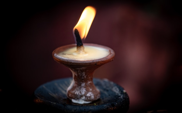 Diwali candle light at kathmandu, nepal.