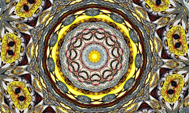 ディワリ曼荼羅パターン。瞑想、ヨガ、チルアウト、リラックス、ミュージックビデオ、トランスパフォーマンス、伝統的なヒンドゥー教と仏教のイベントのパターン。