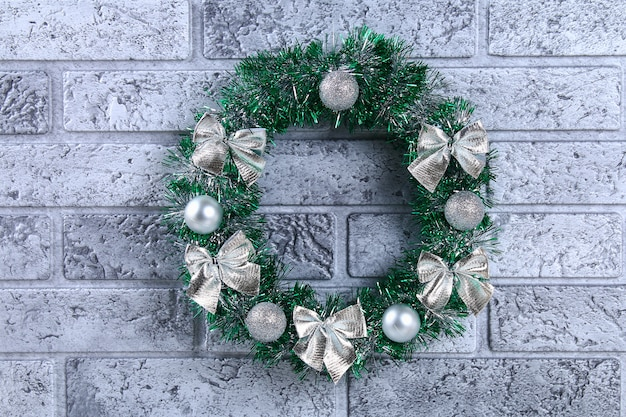 Diy christmas wreath. how to make a wreath from a plastic plate, tinsel, beads, bows and b
