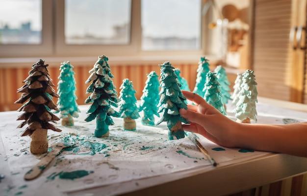 Diyクラフトギフトとクリスマスデコレーション。
