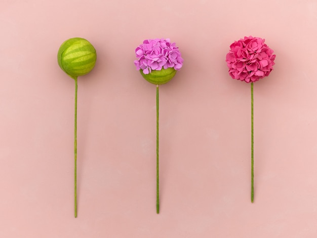 Diy instruction. making flowers from foamiran. craft tools and supplies. step - result